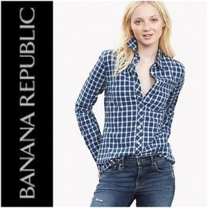 Banana Republic Soft Wash Gingham Flannel BF Shirt